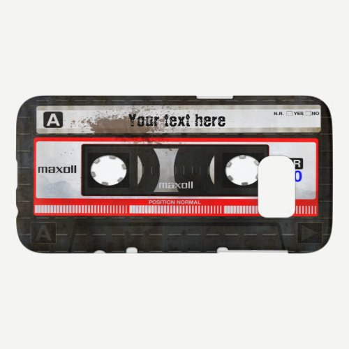 Retro Compact Audio Cassette | DJ Best Gifts Samsung Galaxy S7 Case