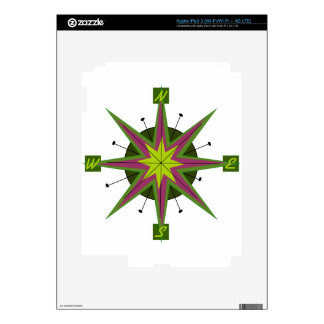 Retro Compass Design iPad 3 Skin