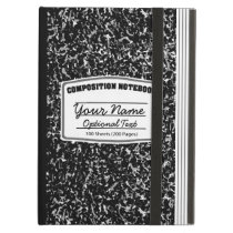 Retro Composition Notebook Case For iPad Air