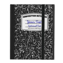 Retro Composition Notebook School Dayz iPad Folio Case