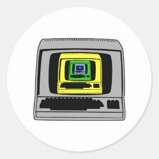 """""""Retro Computer Classic Round Sticker"""