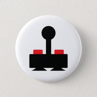 retro computer oldschool joystick geek pinback button