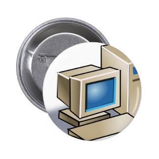 Retro Computer Pinback Button