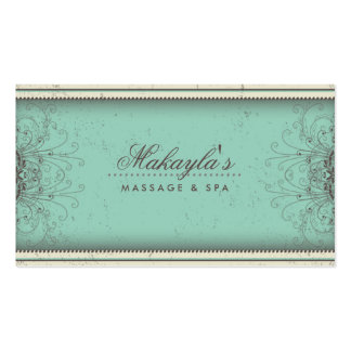 Retro con clase moderno elegante del damasco del e tarjeta de negocio