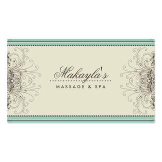Retro con clase moderno elegante del damasco del plantilla de tarjeta personal