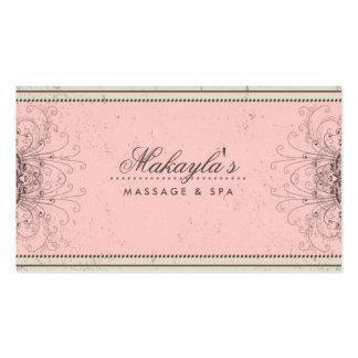Retro con clase moderno elegante del damasco del tarjetas de visita