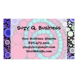 Retro Concentric Circles Cool Swirl Pattern Business Card