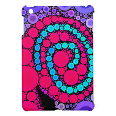 Retro Concentric Circles Cool Swirl Pattern iPad Mini Case