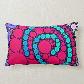Retro Concentric Circles Cool Swirl Pattern Pillow