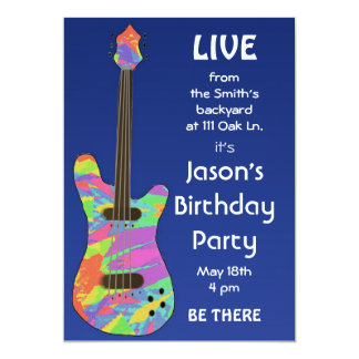 """Retro Concert Poster Customizable Invitation 5"""" X 7"""" Invitation Card"""