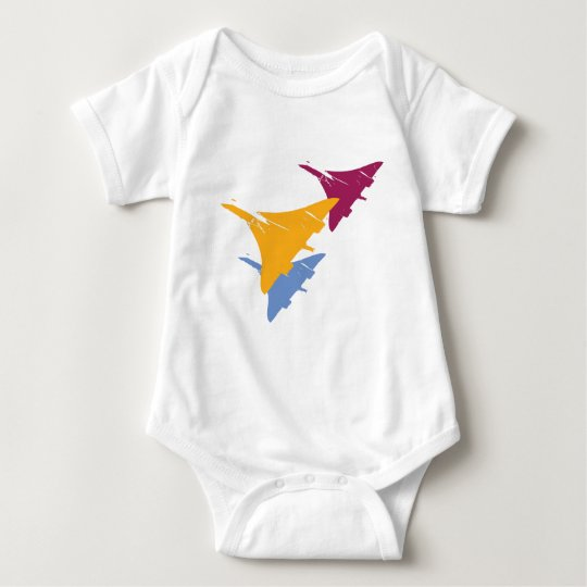 Retro Concorde Jet Airplane Aviation Flight Design Baby Bodysuit