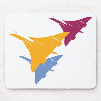 Retro Concorde Jet Airplane Aviation Flight Design Mouse Pad