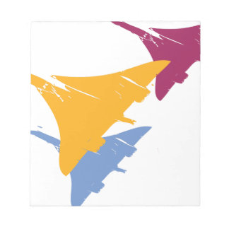 Retro Concorde Jet Airplane Aviation Flight Design Memo Notepads