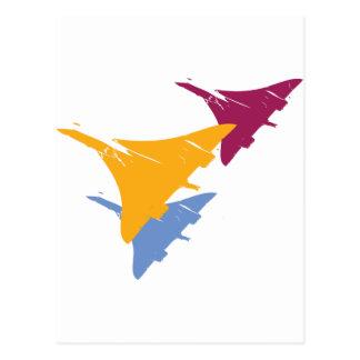 Retro Concorde Jet Airplane Aviation Flight Design Postcard