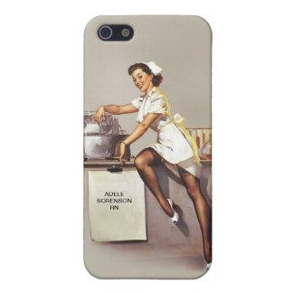 Retro conocido de encargo de la enfermera modela iPhone 5 carcasas