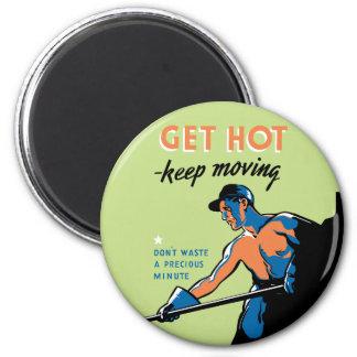 Retro consiga caliente guardan el moverse imán redondo 5 cm