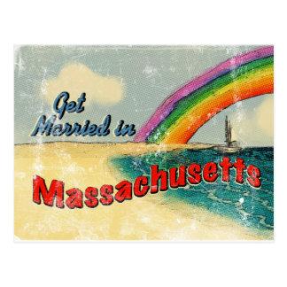 Retro consiga casado en Massachusetts Postal