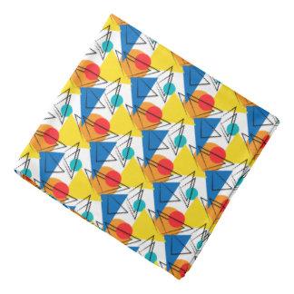 Retro Contemporary Geometric Colorful Pattern Bandana