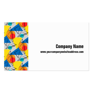 Retro Contemporary Geometric Colorful Pattern Business Card