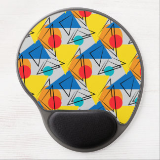 Retro Contemporary Geometric Colorful Pattern Gel Mouse Pad