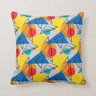 Retro Contemporary Geometric Colorful Pattern Pillows