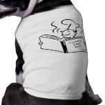 Retro Cook - Cannibal Cook Book Dog T Shirt