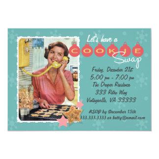 Retro Cookie Swap Holiday Party Invitation