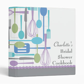 Retro Cooking Bridal Shower Cookbook Recipe Binder
