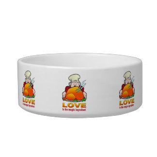 Retro Cooking Design.Love Is The Magic Ingredient. Bowl