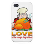 Retro Cooking Design.Love Is The Magic Ingredient. Cases For iPhone 4