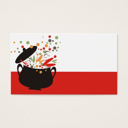 retro cooking pot bursting flavor 2 business card