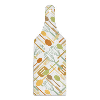 Retro Cooking Utensil Kitchen Cutting Board