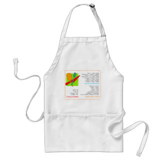Retro Cooks Guide Upside Down Information Apron