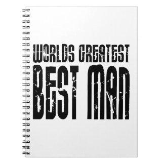 Retro Cool Best Men World s Greatest Best Man Spiral Notebook
