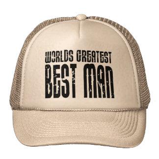 Retro Cool Best Men : World's Greatest Best Man Mesh Hats