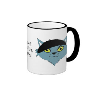 Retro Cool Cat Coffee Mug - Jasper the Beatnik Cat