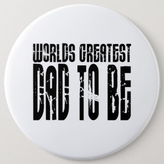 Retro Cool Dads to Be : World's Greatest Dad to be Button