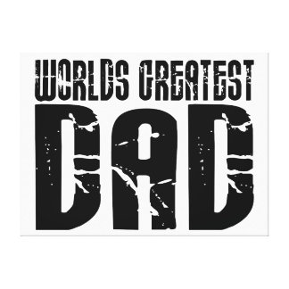 Retro Cool Dads : World's Greatest Dad Canvas Prints