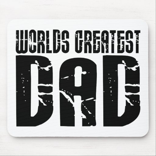 Retro Cool Dads : World's Greatest Dad Mousepad