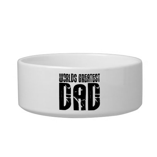 Retro Cool Dads : World's Greatest Dad Pet Food Bowls