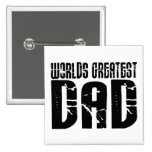 Retro Cool Dads : World's Greatest Dad Pin