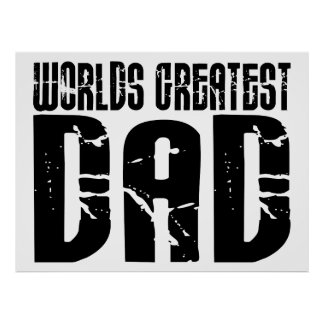 Retro Cool Dads : World's Greatest Dad Poster