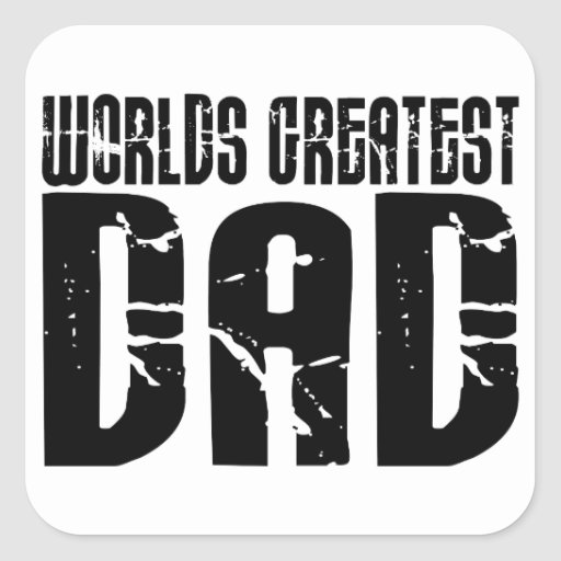 Retro Cool Dads : World's Greatest Dad Square Stickers