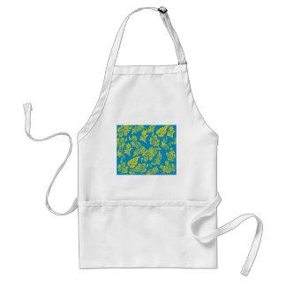 Retro cool floral pattern! adult apron