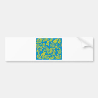Retro cool floral pattern! bumper sticker