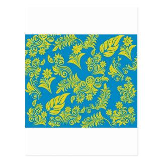 Retro cool floral pattern! postcard