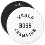 Retro Cool Gifts for Bosses : World Champion Boss Pins