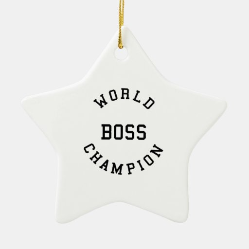 Retro Cool Gifts for Bosses : World Champion Boss Christmas Ornament