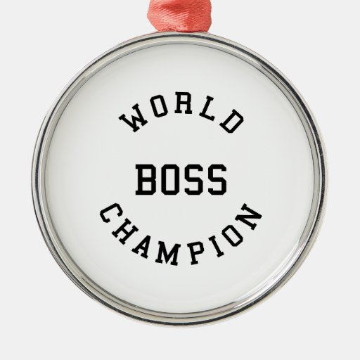 Retro Cool Gifts for Bosses : World Champion Boss Ornaments