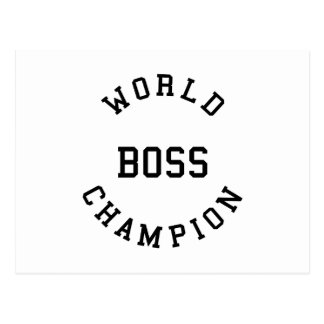 Retro Cool Gifts for Bosses : World Champion Boss Postcard
